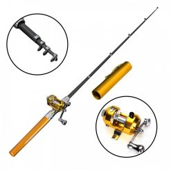 Expandable 38 Inch Fishing Rod Pen - Gold