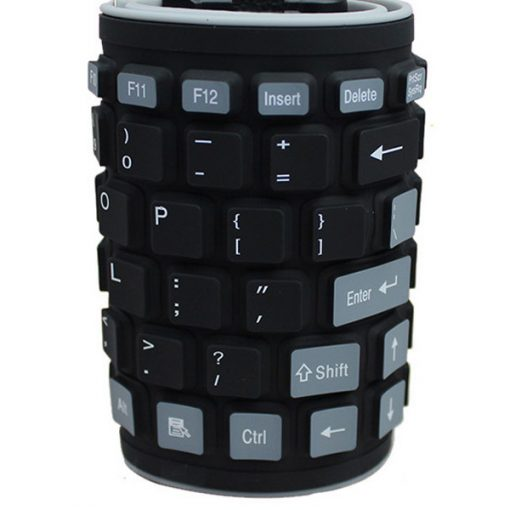 Bluetooth Silicone Roll Up Keyboard - Black