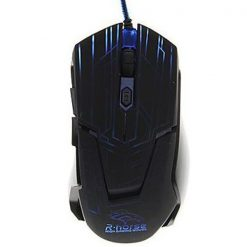2400 DPI Adjustable Lighted Gaming Mouse - Black/Blue