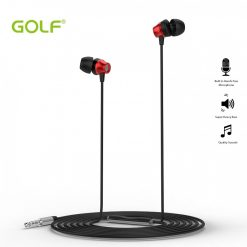 Golf M14 Super Heavy Bass In Ear Earphones  - Red