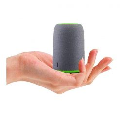 Mini Bluetooth Speaker With Case - Grey/Green