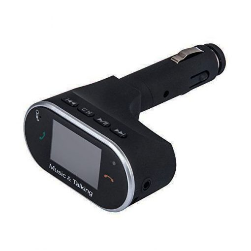 Handsfree Car Kit FM Transmitter With USB and Micro SD Slot Black