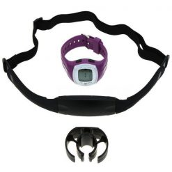 Heart Rate Monitor Sports Watch With Chest Belt - Purple