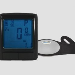 22 Function Cycle Computer and Wireless Heart Rate Monitor - Black