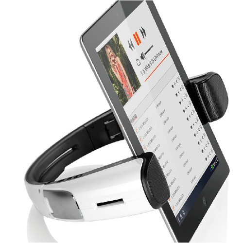 Mini Foldable With NFC Bluetooth Smartphone Stand Speaker With Surround Effect