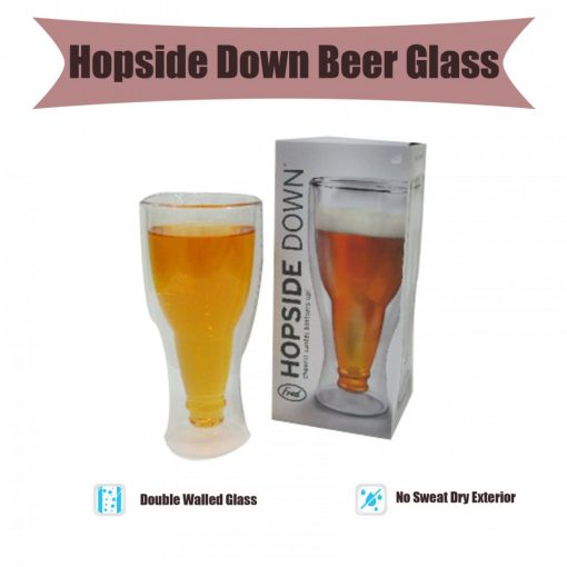 Hopside Down Beer Glass - Transparent