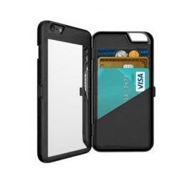 iFrogz Charisma Case for iPhone 6 Plus with Mirror and Wallet – Black