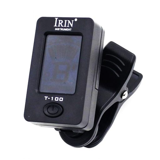 """IRIN T-100 1.4"""" Clip-on Tuner With LCD Display - Black"""