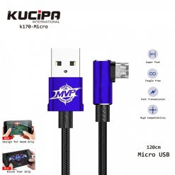 Kucipa K170-Micro Nylon Braided Type Micro USB Data and Charging Line 120 cm - Blue