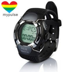 Multifunction Pulse And Heart Rate Monitor Watch With Calorie Counter - Black