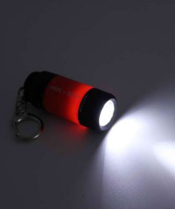 Mini USB Rechargeable LED Flashlight - Red