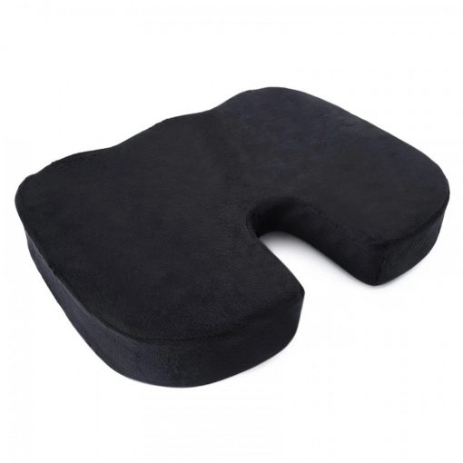 Memory Foam Orthopedic Seat Cushion - Black