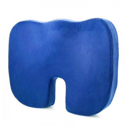 Memory Foam Orthopedic Seat Cushion  - Blue