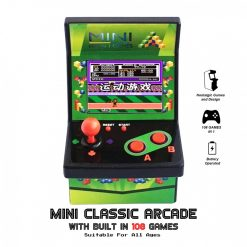 Mini Classic Arcade Built In 108 Games - Green
