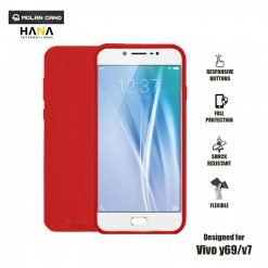Molan Cano Ultra Lightweight Protective Soft TPU Case for  Vivo Y69 / Vivo V7- Red