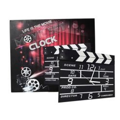 Movie Set Analog Wall Clock - Black
