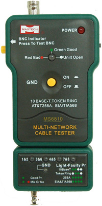 MultiNetwork Cable Tester Meter RJ45 BNC Tests for Coaxial Cable