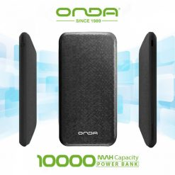 Onda N100T Plus Dual Port 10,000 Mah Powerbank With Lightning And Micro USB Charging Port - Black