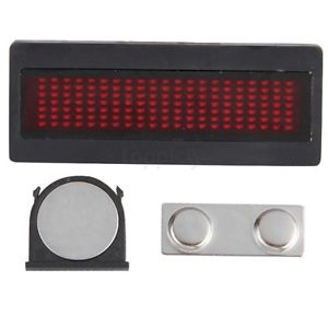 Programmable Electronic Name Tag With Red Led