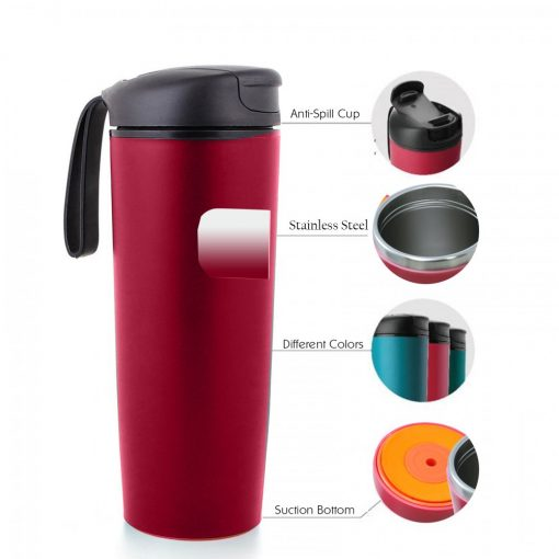 500 ml Thermal Suction Spill Free Tumbler - Pink