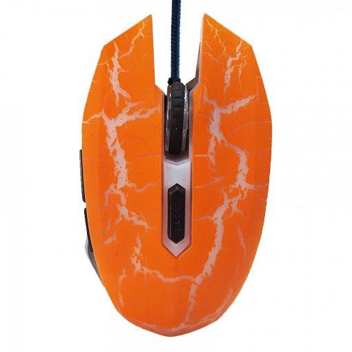3200 DPI Ergonomic Wired Optical Gaming Mouse - Orange/Gray