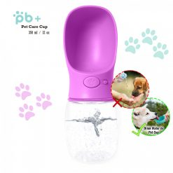 PB+ 350 ml Pet Care Cup Leak Proof Water Bottle For Pets - Pink