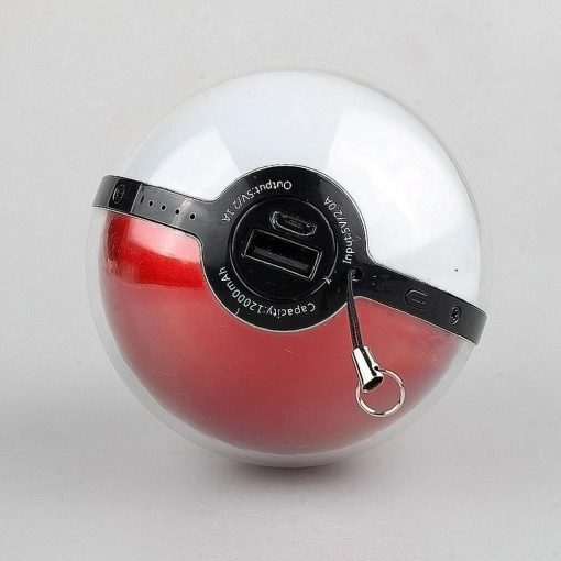 12000 mAh Pokemon Ball Powerbank With LED Projection Light