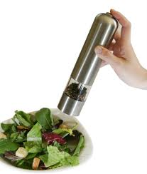 Electric Stainless Steel Automatic Salt and Pepper Mill Dispenser