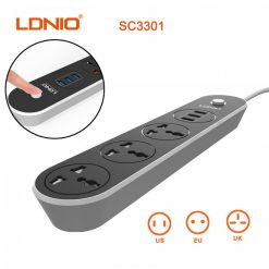 LDNIO 3 Universal Outlet  3 USB 3.1A  Power Outlet -  White