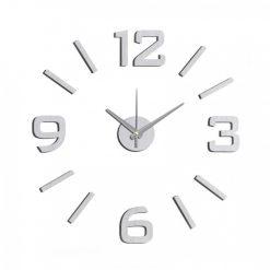 DIY Wall Sticker Clock - Silver