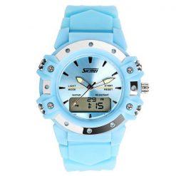 30m Waterproof Digital Wrist Watch - Light Blue
