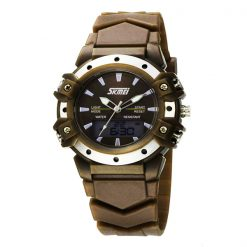 30m Waterproof Digital Wristwatch - Brown