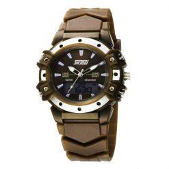 30m Waterproof Digital Wristwatch - Brown