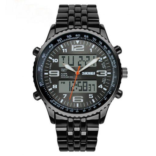 30M Waterproof Dual Mode Metal Watch - Grey Dial