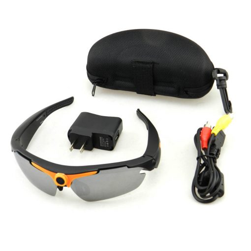 720P with 170 Degree HD Sunglasses Action Sports Camera - Orange