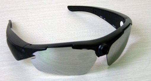 720P with 170 Degree Wide-Angle Sports Hidden Camera Sunglasses - Black