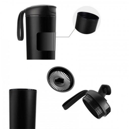 540 ml Suction Tumbler Spill Free - Black