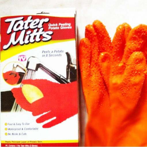 Potato Peeler Tater Mitts Gloves - Orange