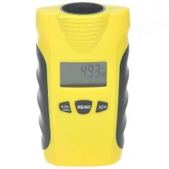 "1.4"" LCD Ultrasonic Distance Measurer with Red Laser Pointer - Yellow"
