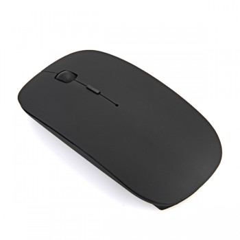 2.4GHz Wireless Ultra Thin Optical Mouse for Laptop Notebook- Black