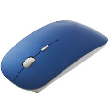 2.4GHz Wireless Ultra Thin Optical Mouse for Laptop Notebook - Blue