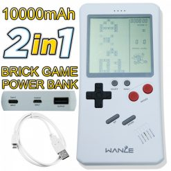10,000 MAH Power Bank With Games  - White
