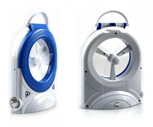 3 in 1 Multifuctional Mini LED Fan - Blue