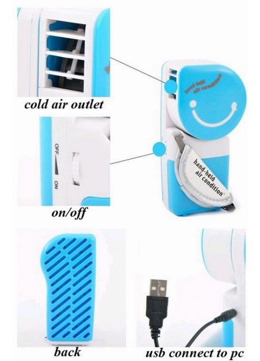 Hand-held Air Condition - Blue