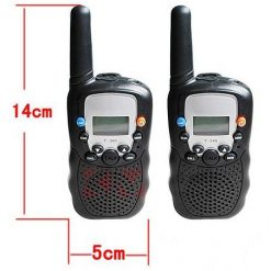 1 Pair of Amaeture 5 Km Walkie Talkie Radio - Black