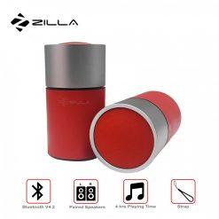 Zilla SZ01 PU Leather TWS Dual Wireless Speaker - Red