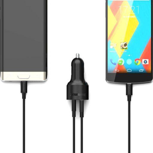 Tronsmart C2PTU 33W Two Port USB Quick Charge 3.0  And Type-C 3A - Black