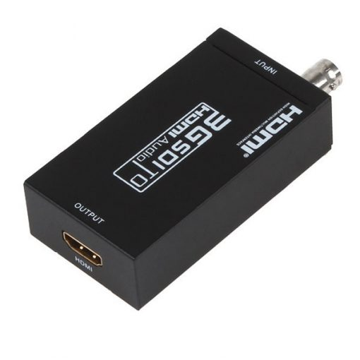 SDI to HDMI Video Converter Adapter SDI Switcher to HDMI - Black