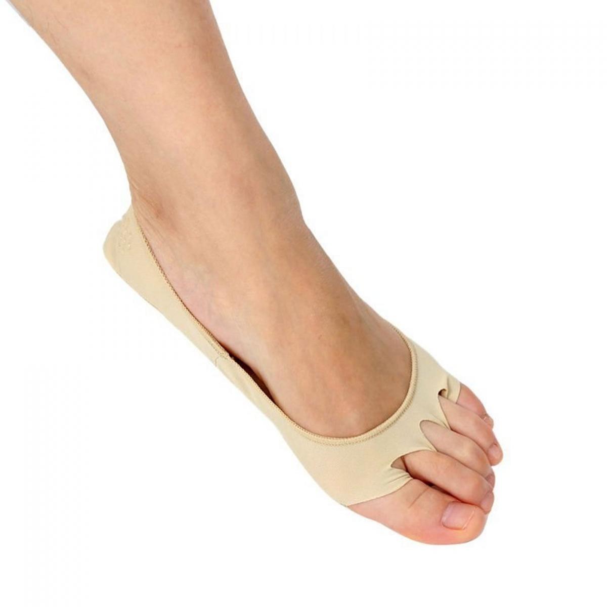 Enjoy Yoga Toeless Non Slip Socks  - Brown