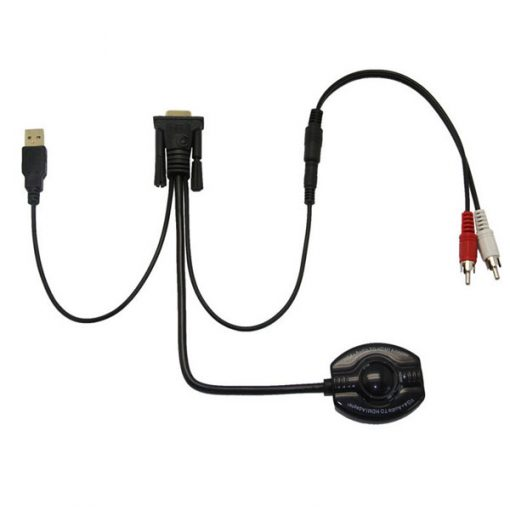 VGA To HDMI Adapter Coventer With Audio - Black